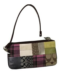 Authentic Coach HOL PW WRST 4021 suede wristlet NWT