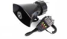 12V 100W Car Van Warning Alarm Police Fire Loud 5 Siren sHorn Speaker MIC SW