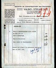 """FONTAINE (38) Constructeur de MACHINES-OUTILS à BOIS """"VALBO STELLA"""" en 1948"""