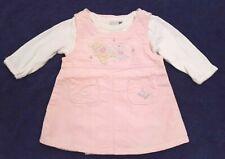 Disney Baby Samt-Kleid Gr.62/68 Winnie Puuh rosa Hängerkleid Langarm-Body