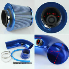 "5mm/3"" Short Cold Air Intake Pipe Kit+ Air Filter For Ford Subaru Universal Blue"