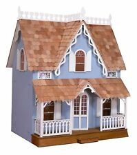 Large Wooden Doll House Vintage Victorian Kit Wood Dollhouse DIY Mansion Girls
