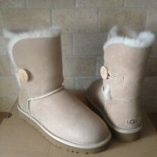 UGG Bailey Button II Water-resistant Sand Suede Short Boots Size US 7 Womens