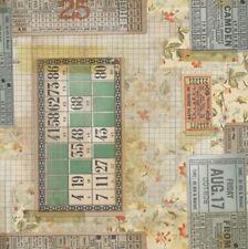 Free Spirit Memoranda by Tim Holtz PWTH091 Multi Tickets Cotton Fabric