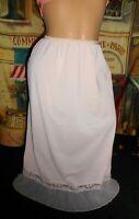 Pillow Tab 1/2 Slip Crystal Perma Pleat Pink Vanity Fair sz 7 S/M & Barbizon Cam