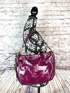 Coach Zoe Berry Purple Patent Leather Medium Shoulder Bag