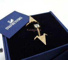 Authentic NIB Swarovski Rose Gold Funk Ring Set Size 55 US 7/M
