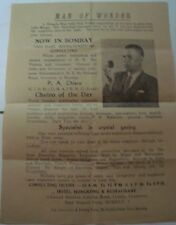 Old vintage paper programme Advertisement pamphlet of DR, P. A. CHIERO from Indi
