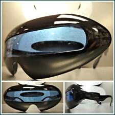 SPACE ROBOT PARTY RAVE COSTUME CYCLOPS FUTURISTIC SHIELD SUN GLASSES Blue Lens