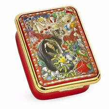 Halcyon Days, 'Octopussy The Cat At Christmas' Enamel Box, Brand New In Box