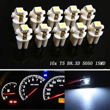 10x T5 B8.3D 5050 1SMD LED Car Dashboard Dash Gauge Instrument Light Bulb White