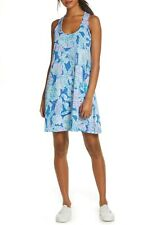 New Lilly Pulitzer Melle Trapeze Dress Blue Heaven Into the Deep M medium