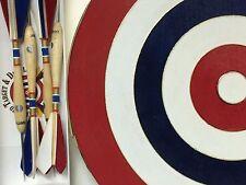 Authentic Belgian Dart Board (Made in the USA) Vogelpik 8 3/4 inch Diameter