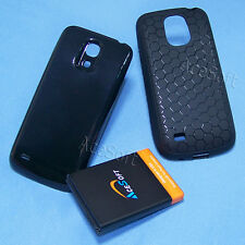 3in1 Extended 6300mA Battery Back Cover Tpu Case for Samsung Galaxy S4 mini I257