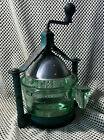 Fantastic Vintage 1930's Handy Andy Green Glass Juice Extractor Metal Frame