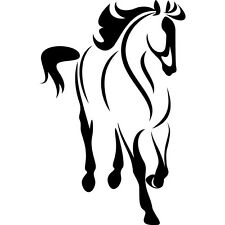 "Horse silhouette Outline Car Truck Window or Bedroom Wall Vinyl sticker 9""X5.8"""