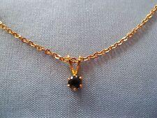 Pendant Necklace Blue Rhinestone