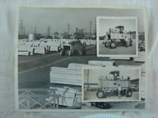 Vintage 1950s Photos Lumber Yard Tractor in Action 826