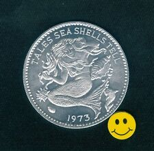 Mermaid Token - Tales Sea Shells Tell - Mardi Gras Doubloon Coin 1973