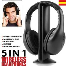 Cascos auriculares inalambrico Radio FM 5 EN 1 para tv LCD LED PC Audifonos
