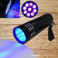 Mini UV ULTRA VIOLETA 9LED Linterna LUZ ULTRAVIOLETA Antorcha Lámpara Flashlight