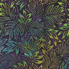Benartex Bali Batik Fabric-Lilly leaves Purple-7091-60