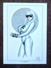 Jordan Katie Price Impresión Arte Comic Erótico Pinup firmado Alex Miranda Desnuda Sexy