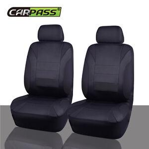 Universal NEOPRENE Car Seat Covers Black 2 Front For Truck SUV VAN Sedan Holden