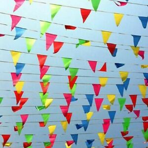 Large 100 METER Multi Colour Banner Bunting Party Home Garden Decoration Banner