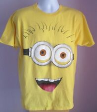 Preloved Mens DESPICABLE ME MINION Yellow Crew Neck T Shirt Size Large