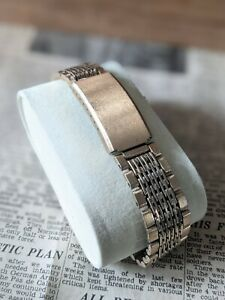 Gents Vintage Link Rare Gold Tone Clasp Watch Bracelet Strap - 18mm