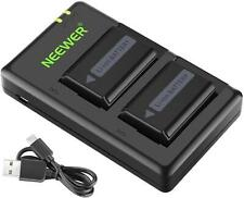 Neewer NP-FW50 Camera Battery Charger Set Compatible With Sony A6000,A6500,A6300