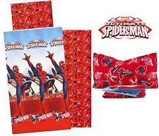 Completo lenzuola cotone flanella SPIDERMAN uomo ragno marvel letto singolo