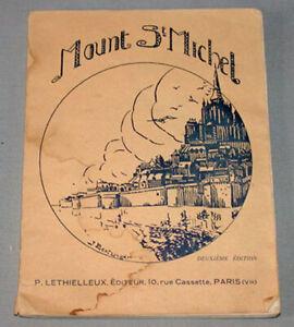 Vintage 1926  France Mount St.Michel  2nd. Edition Travel Brochure Guide