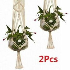 More details for 2pcs macrame plant hangers,indoor outdoor macrame plant pot cotton rope hanger