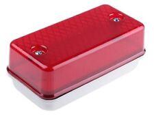 RS Pro, Rectangular Red LED Bulkhead light, 24 V ac/dc, Polycarbonate, IP64, wit