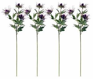 4 x Artificial Thistle Spikey Flower Sprays