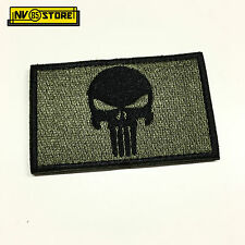 Patch Ricamata Skull Sniper Punisher Navy Seals 8 x 5 cm Militare con Velcro OD