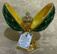 "Faberge Egg Crown Green (4.5""). Made in Russia"