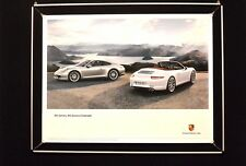 "Porsche Poster ""911 Carrera Coupé, Carrera S Cabriolet"""