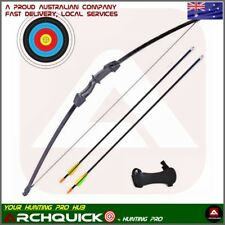 Junior Long Bow set Arrows Kids Archery Basic Pack Shooting Practice 15lbs