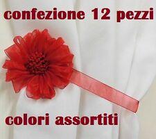 cc Set 12 Calamite LegaTenda Ferma Tende Colorate Fiore Diametro 10cm moc
