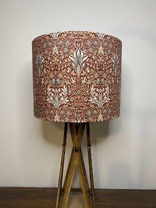 William Morris Merton Snakeshead Red Handmade Lampshade (Gold Silver Copper)
