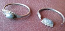 Authentic Ancient Lake Ladoga VIKING Artifact > Silver Temple Earrings  RJ 80-B