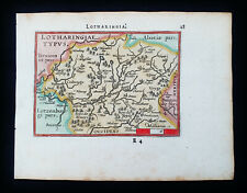 1601 A. ORTELIUS - rare map of FRANCE, LOTHARINGIA, MOSELLE River, GERMANY, SAON