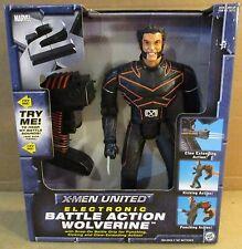 """DC Comic 13"""" X-Men United Electronic Battle Action Wolverine Figure + Sounds NEW"""