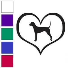 Heart Plott Hound Love Decal Sticker Choose Color + Size #1497