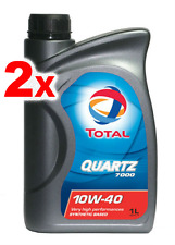 2 x Total Quartz Synthetic Engine Motor Oil 7000 Performance 10W40 - 1L Fiat VW