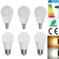 12/6x E14 SES E27 ES 5W LED Globe Bulbs Lamps Cool Warm White Lamps Spotlight