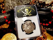 "SPAIN 4 REALES 1612 ""FULL DATE"" NGC VF PIRATE GOLD COINS TREASURE DOUBLOON COB"